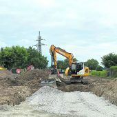 Baustart in der Harder Unterfeldstraße