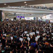 Demo im Flughafen