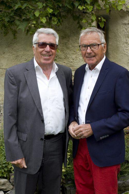 Gastgeber August Stöhr (l.) und Günter Polanec. Franc