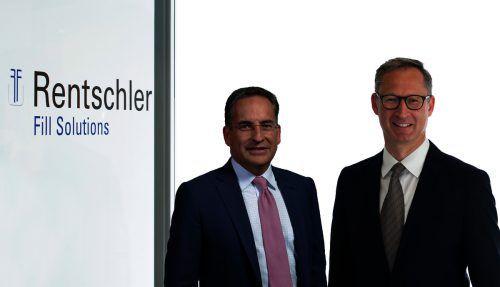 Geschäftsführer Mathias Frank und Jochen Alberstetter. Fa/Säly