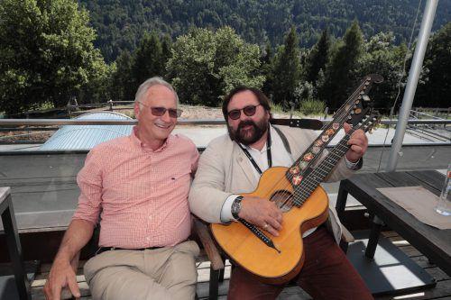 Gut gelaunt: Jodok Simma und Martin Ortner.