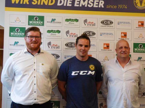 HSC-Headcoach Heimo Lindner, Heimkehrer Martin Mairitsch und Co-Trainer Martin Vidmarmima