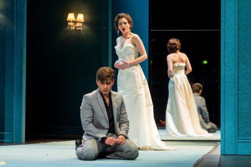 """In """"Eugen Onegin"""" debütiert die israelische Sopranistin Shira Patchornik als Tatjana. Die jungen Gesangstalente dringen gemeinsam mit Regisseur Jan Eßinger in die komplexen Gefühlswelten der Figuren ein.vn/stiplovsek"""