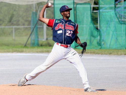 Indians Pitcher Chris Squires zeigte eine gute Leistung gegen die Diving Ducks. privat