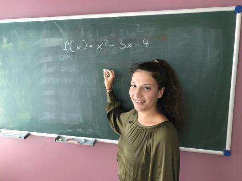Janine Schantl aus Schoppernau ist begeistert vom Lehrberuf. VN/ Hämmerle