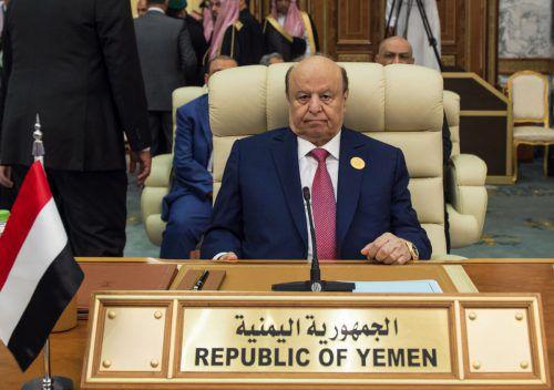 Jemens Präsident Hadi wird wohl im Exil in Saudi-Arabien bleiben müssen. afp