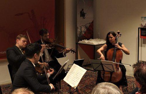 Konzert des Stradivari Quartetts im Rahmen der Montafoner Resonanzen in Schruns. ju