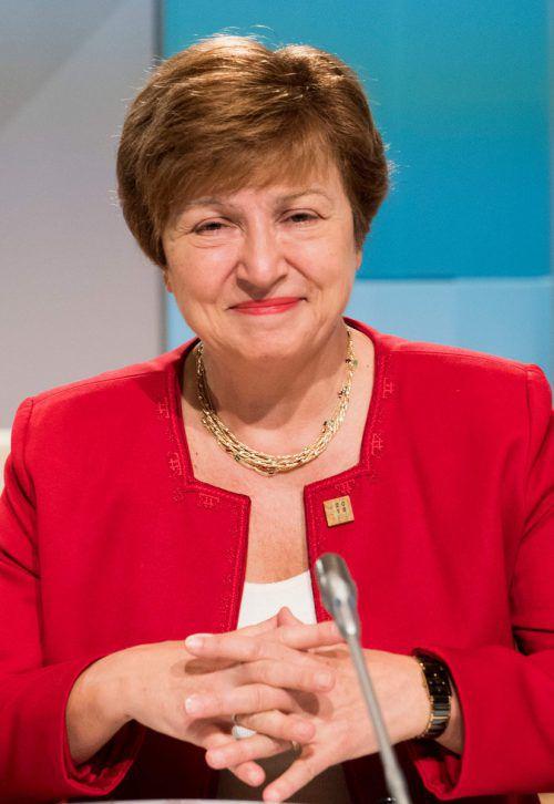 Kristalina Georgiewa soll neue IWF-Chefin werden. AFP