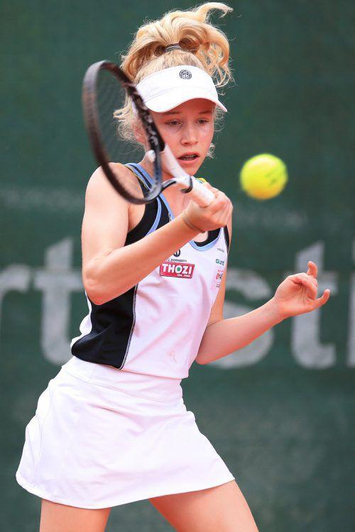 Laura Fuchs ist in Bludenz im Doppelfinale gefordert. GEPA