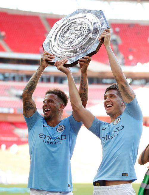 Manchester City will den Community Shield gegen Liverpool verteidigen. Reuters