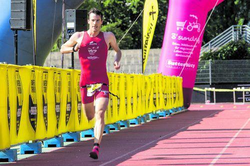 Martin Bader lieferte bei den deutschen Triathlon-Sprintmeisterschaften in Berlin Platz 28 ab.vtrv