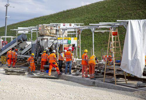 Mit 140 Mitarbeitern sind Rhomberg Bahnbau und Swietelsky auf der Schwäbischen Alb aktiv. Fa