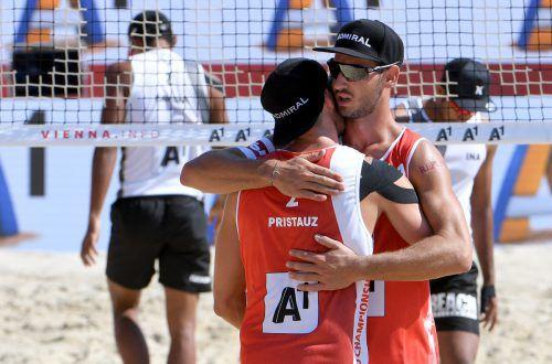 Moritz Pristauz und Martin Ermacora dürfen über EM-Bronze jubeln. apa