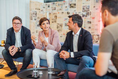 Pamela Rendi-Wagner ist für alle Koalitionsvarianten offen, nur mit der FPÖ schließt sie eine Zusammenarbeit aus. VN/Sams