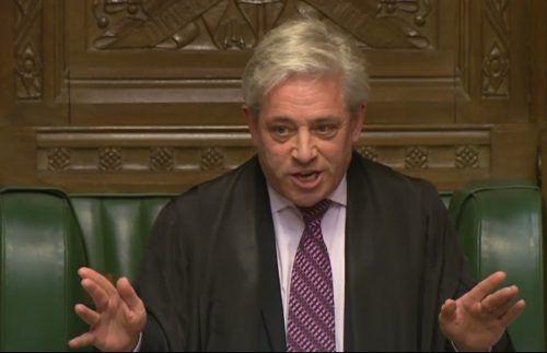 Parlamentschef John Bercow stellt sich in der Brexit-Frage gegen Boris Johnson. afp