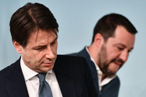 Premierminister Giuseppe Conte führt mit Lega-Chef und Vizepremier Matteo Salvini Krisengespräche. afp