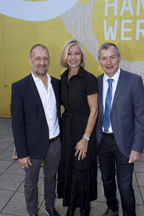 Raimund Dür (l.), Anna Claudia Strolz und Leo Metzler.