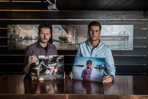 Reinhard und Luca Fasching beeindruckten mit ihren Fotos bei den Moscow International Fotoawards. VN/Steurer