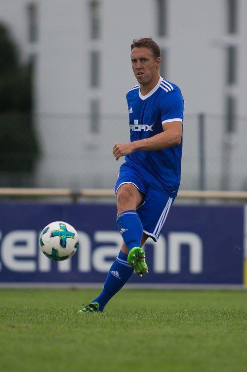 Röthis-Kicker Christoph Stückler steht vor seinem 576. (!) Pflichtspiel.Steurer