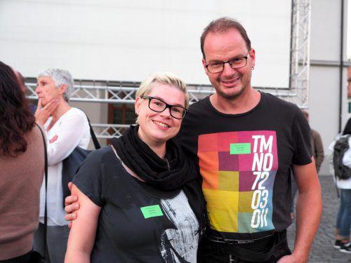 Schulleiter Daniel Amann (VS Viktorsberg) mit Claudia.
