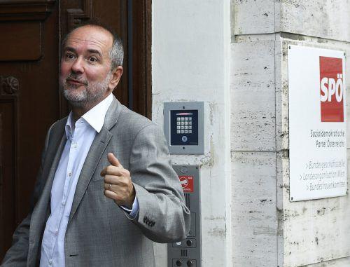SPÖ-Chef Thomas Drozda erwartet von der ÖVP Offenlegung. apa