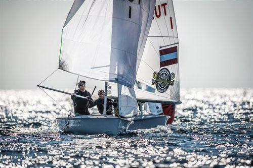 Steuermann David Bargehr und Vorschoter Lukas Mähr wollen sich bei der 470er-WM steigern und den Einzug in die Goldflotte schaffen.störkle