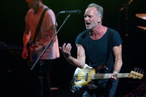 Sting bei einem Konzert in Marbella. afp