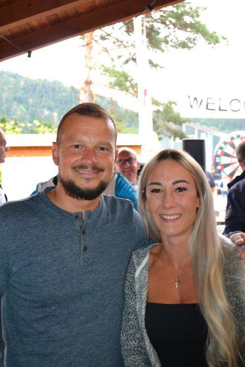 TC-Bludenz-Sport- und Presswart Lukas Ammann und Tara Tschofen.