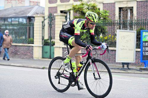 Team-Vorarlberg-Profi Roland Thalmann machte auf der Tour Alsace in Frankreich eine gute Figur.Haumesser.