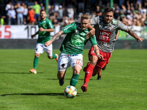 Thomas Mayer und seine Austria bemühten sich zwar gegen den GAK, konnten aber die erste Niederlage der Saison nicht abwenden.Gepa