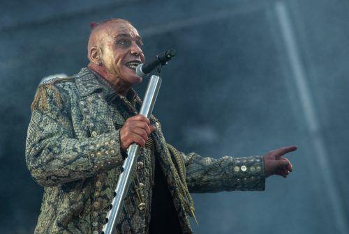 Till Lindemann, Frontsänger der Band Rammstein. Dpa