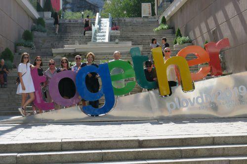 """""""Together"""" ist das Motto der Stadt am Balkan. Damit wird vor allem auf die Gemeinsamkeiten von Religionen und Ethnien durch Kunst und Kultur in Europa hingewiesen. Stadt Dornbirn"""