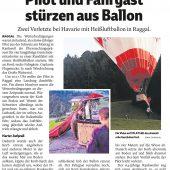 Ballon-Bruchlandung in Raggal