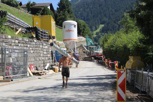 Während der Bauarbeiten ist die Straße tagsüber gesperrt. str