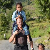 Nepal-Fan mit Herz