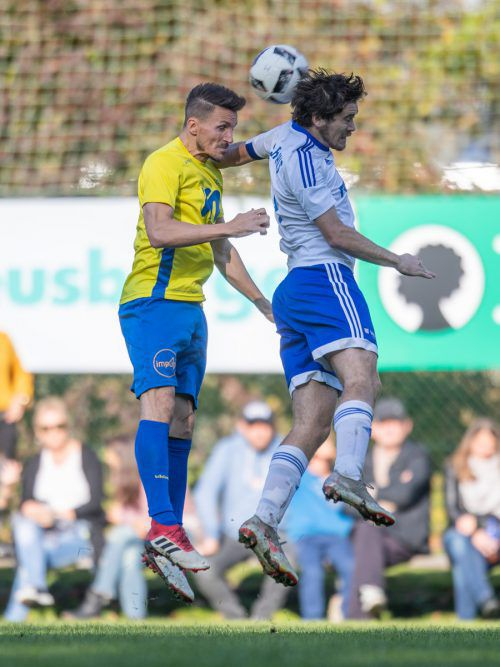 Aleksandar Djordjevic (l.) übernahm Verantwortung beim 2:1-Sieg von Wolfurt.Sams