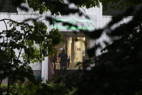Zum Zeitpunkt des Angriffs befanden sich drei Personen in der Al-Nour-Moschee. AFP