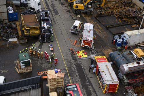 180 Feuerwehrleute waren bei der Übung im Einsatz. VLK