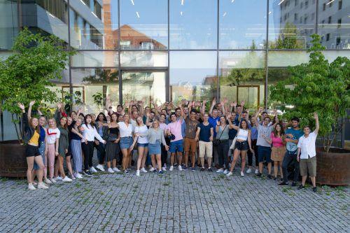 50 Gaststudierende aus 15 Ländern starten an der FH Vorarlberg in ihr Auslandssemester.FH/Pritzi