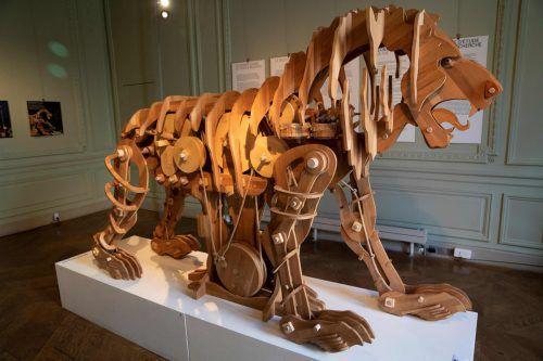 Anhand von da Vincis Skizzen rekonstruierten Experten den Löwen. AFP