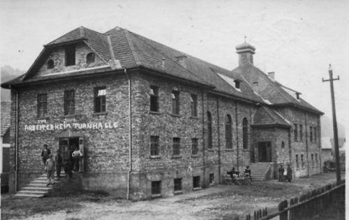 Arbeiterheim in der Mokry im Jahr 1927.