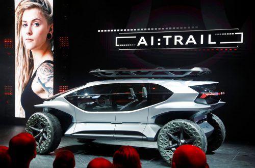 Audi zeigt auf der IAA einen futuristischen Geländewagen als Studie.