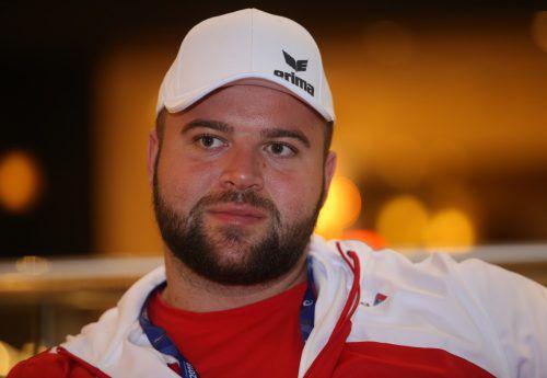Auf Diskuswerfer Lukas Weißhaidinger wartet heute bei der WM in Doha die Qualifikation.gepa