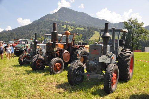 Außergewöhnliche Oldtimertraktoren fuhren unlängst beim Traktorentreffen in Thüringerberg auf und zogen die Blicke der interessierten Besucher auf sich. HAB