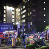 Klinikbrand: Ein Toter, viele Verletzte