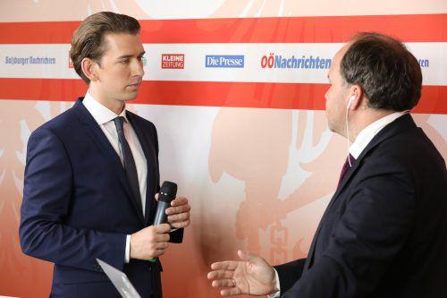 Bereits bei der Nationalratswahl 2017 stellten sich die Spitzenkandidaten im Wahlstudio den Fragen von Chefredakteur Gerold Riedmann. Schiffl
