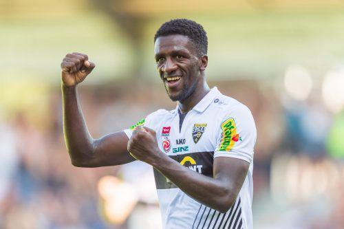 Bestreitet am Sonntag sein 50. Pflichtspiel (Liga/Cup) für Cashpoint SCR Altach: Kameruns U-23-Kapitän Samuel Oum Gouet.gepa