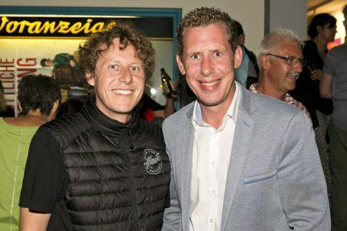 Betriebsrat Claudio Herburger und Gpa-Geschäftsführer Bernhard Heinzle.