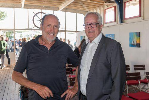 Bgm. Michael Simma und Ex-Bgm. Xaver Sinz (Lochau).