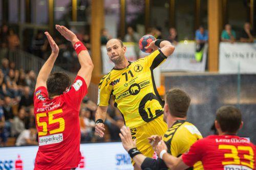 Bregenz-Routinier Vlatko Mitkov will gegen seinen Ex-Klub unbedingt die ersten Saisonpunkte einfahren.VN/Sams